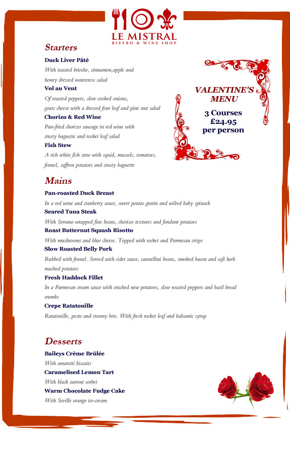 Valentine S Day La Restaurant