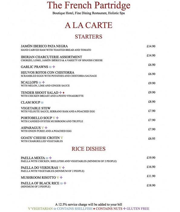 A La Carte  Starters & Rice