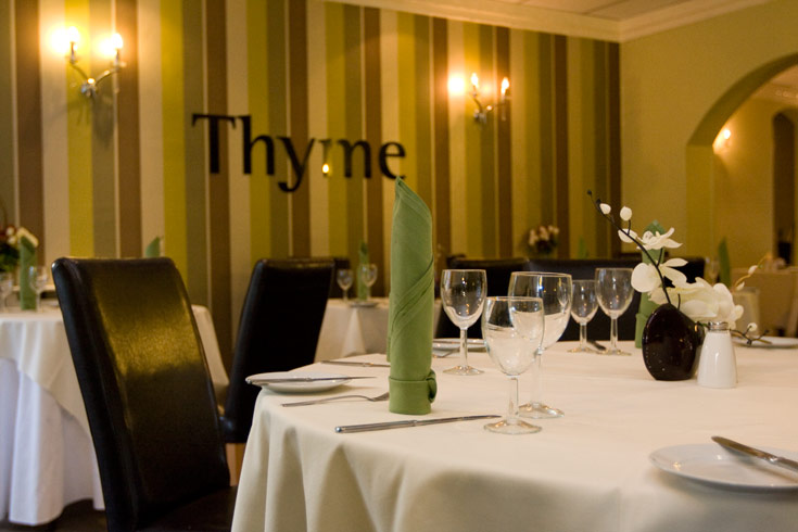 Thyme restaurant at the international hotel derby for Fish thyme menu
