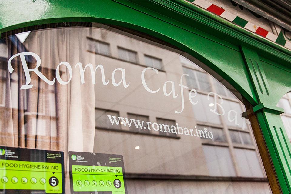 Roma Cafe Bar Restaurant Leicester View Menu Reviews