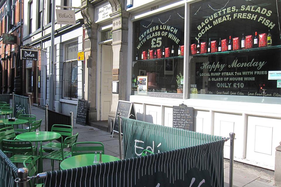 Edins Deli Cafe Nottingham Menu