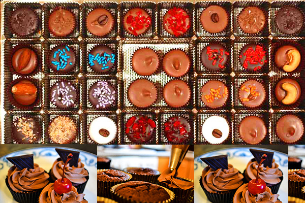 Chocolate box cakes icing